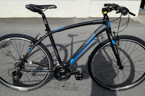 bici citybike montana x cross nero blu