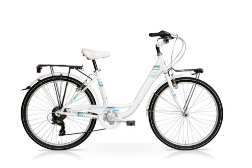 sempion venus 26 donna citybike bianco tiffany